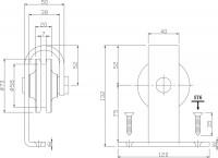 2-teiliges Laufrollen-Set Basic Top Mattschwarz für Schiebetürsystem Basic Top