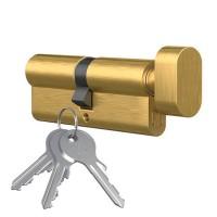 Knopfzylinder Messing poliert Knaufzylinder Profilzylinder mit Knopf Türschloss