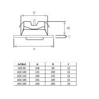 Zuluftventil Zuluft Abluft Weiss RAL9016 Abluftventil Metall