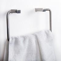 Badzubehör-Serie Bendigo Toilettenpapierhalter Handtuchhalter Edelstahl matt gebürstet