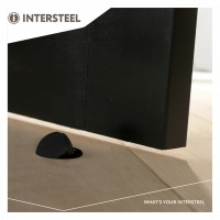 Bodentürstopper Türstopper Türpuffer aus Metall in Schwarz matt mit Schrauben
