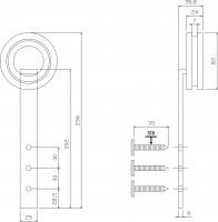 2-teiliges Laufrollen-Set Modern Schwarz Schiebetürrollen für Schiebetüren 256mm