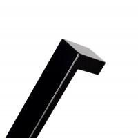 Eckiger Schwarz glänzender Möbelgriff Aluminiumgriff Küchengriff 20mm x 5mm Schrankgriff