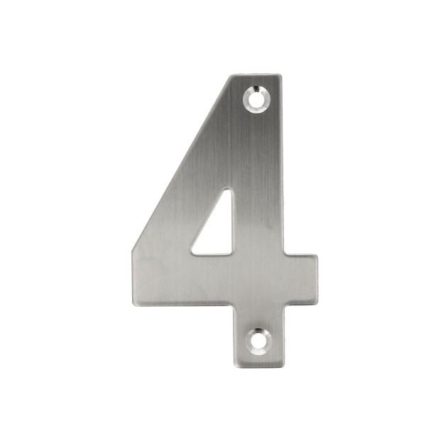 Hauswandnummern 0-9 Edelstahl matt gebürstet Buchstaben A-I Hausnummer Türziffer