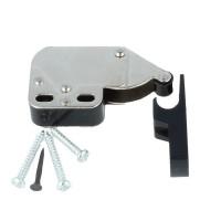 Mini Latch Druckschnapper Federschnapper Türschnapper mit Gegenstück in Schwarz