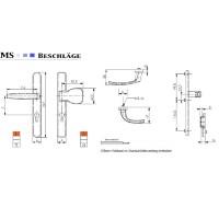 Wechselgarnitur 8-72mm PZ Lochung Schmalrahmengarnitur Schwarz Langschildgarnitur