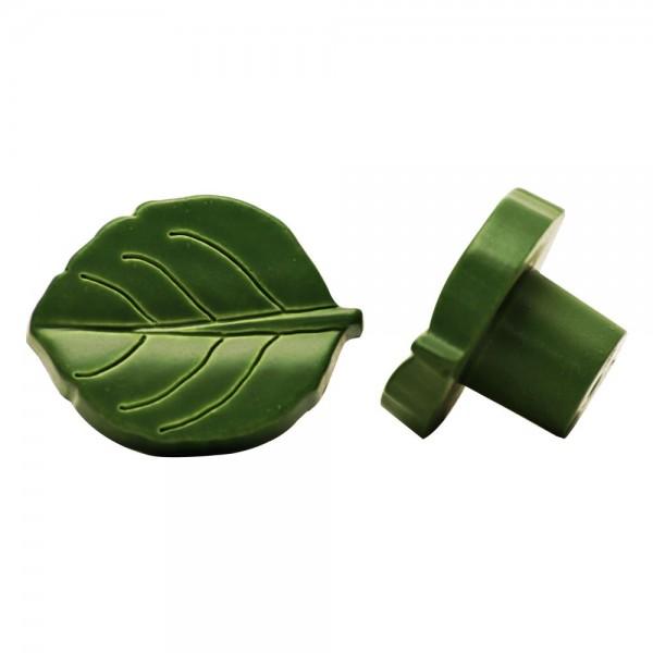 Möbelknopf Schrankknopf für Kinderzimmer Modell Grünes Blatt