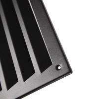 Feinstruktur Schwarz matte Türlüftung Aluminium Lüftungsgitter beidseitig 333x157mm