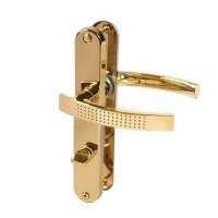 Türdrücker Türklinke Türgriff Messing WC Bad 8 / 78mm DIN Norm