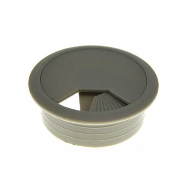 Kabeldurchlaß 80 mm grau Kabeldurchführung Kabeldose Kabelführung Kunststoff