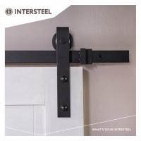 Schiebetürsystem Schiebetürbeschlag Schiebetürset Beschlagset Schwarz 200cm