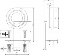 2-teiliges Laufrollen-Set Modern Top Schwarz Schiebetürrollen Schiebetüren 155mm