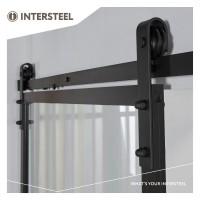 Industrial Style Schiebetür Komplett-Set Schiebetürsystem Schwarz matt DIY Schiebebeschlag
