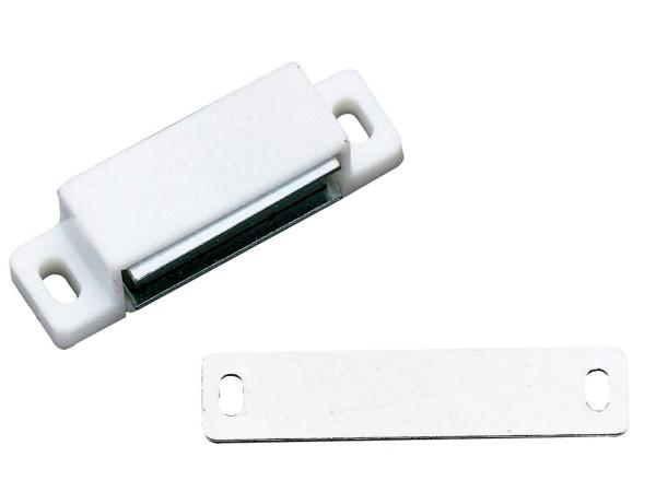 Magnetschnäpper Möbelmagnet Türmagnet Magnetverschluss Schnapper 3kg weiß