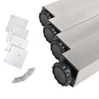 4er Set Tischbeine 710mm Höhe Tischfüsse eckig 60x60mm Tischstempel Aluminium