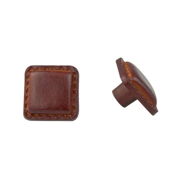 Möbelknopf Schrankknopf Kindermöbelknopf Modell Lederoptik Braun