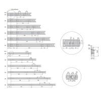 Schubladenauszug 1 Paar Vollauszüge Teleskopauszug Höhe 35mm Korpusschiene Metall