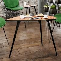 Abklappbares Tischbein formschöner Tischstempel 710mm Höhe Tischfuss angewinkelt