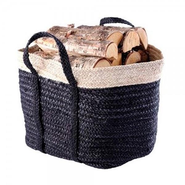 3er Set Holzkorb Holztrage Jute hochwertig naturbelassen 3 Größen 1 Paket