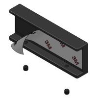 Schwarz matte Schiebetürmuschel für Industrial Style Schiebtür-Basic Griffmuschel 100x38mm