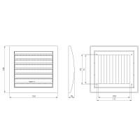 Verschließbare Lamellengitter mit Insktenschutz Kunststoff Lüftungsgitter Weiß